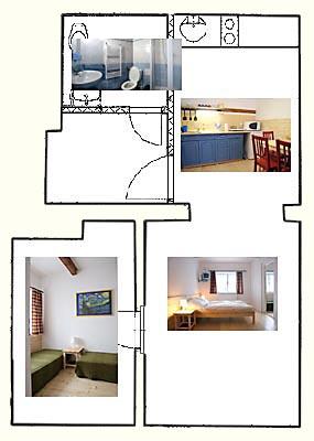 Mapa čtyřlůžkového apartmánu Penzion Janov, Jizerské hory