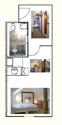 Mapa dvoulůžkového apartmánu Penzion Janov, Jizerské hory