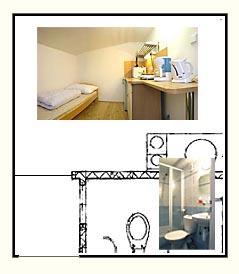 Mapa jednolůžkového apartmánu Penzion Janov, Jizerské hory